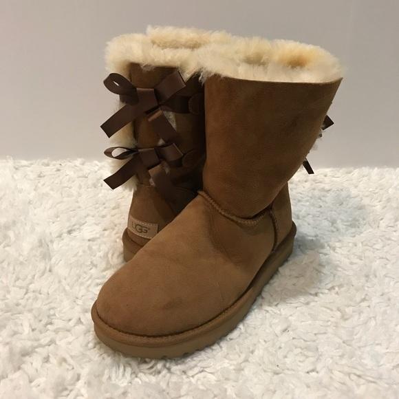 c1c4eedf02c UGG Bailey Bow Chestnut Boots